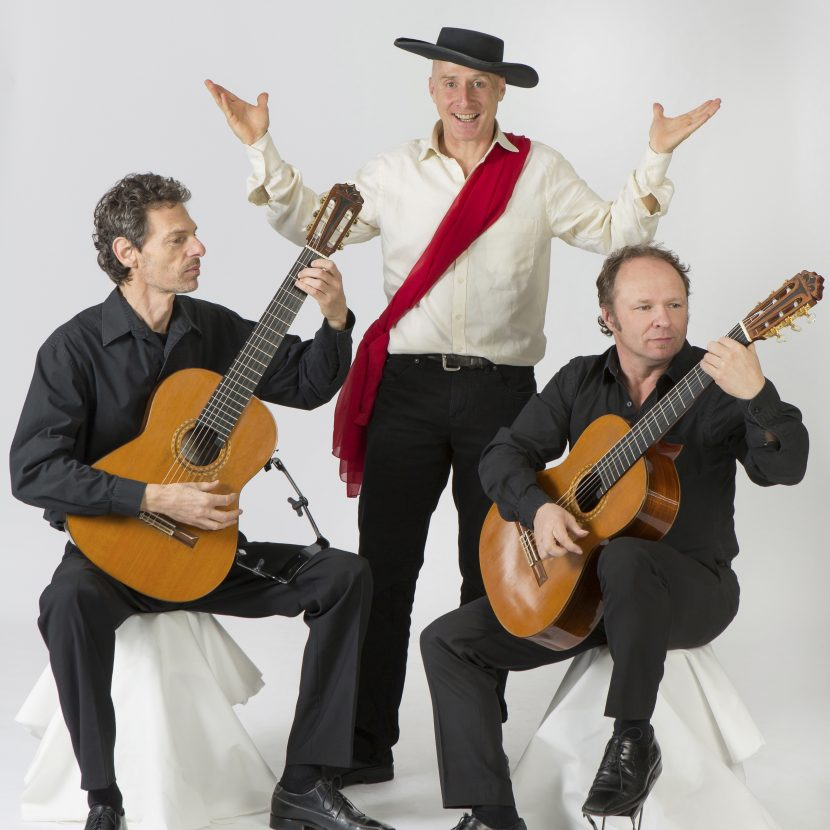Gitarrenduo Gruber und Maklar (Deutschland) und Schauspieler Christian Beier